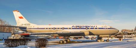 Русский авиалайнер Tu-204A Стоковое Изображение