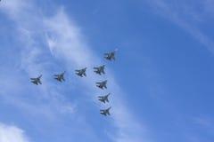 Русский боец войн-самолета Стоковое Изображение