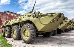 Русский бронетранспортер бронированного корабля армии катят BTR-80, который стоковые изображения rf