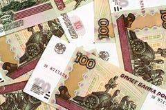 Русский 100 бумажных денег рубля Стоковое Изображение RF