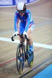 Русский велосипедист девушки на чемпионатах Стоковая Фотография RF