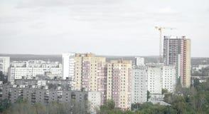 Русский взгляд ландшафта домов домов Стоковое Изображение