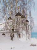 Русский висок, монастырь, церковь Стоковое Фото