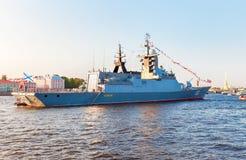 Русский военно-морской флот Ракета Корвет Boykiy стоковые фото