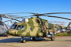 Русский воинский вертолет Mil Mi-171Sh Стоковая Фотография