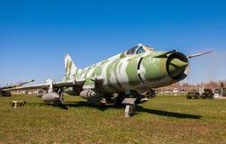 Русский воинский самолет реактивного истребителя Su-17 Стоковая Фотография