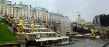 Русский дворец близко к Sanct-Петербургу Стоковые Фотографии RF