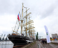 Русский высокорослый корабль Kruzenshtern Стоковое Фото
