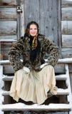 русский девушки платья национальный Стоковые Фотографии RF