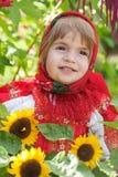 русский девушки платья национальный Стоковая Фотография RF