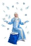 русский девушки рождества одетьнный costume Стоковые Изображения