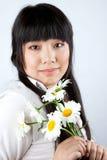 русский девушки camomiles китайский Стоковые Фото