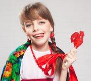 русский девушки платья национальный Стоковое фото RF