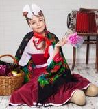русский девушки платья национальный Стоковые Изображения