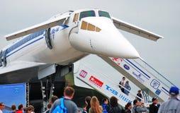Русский зазвуковой Tupolev Tu-144 самолета Стоковая Фотография RF