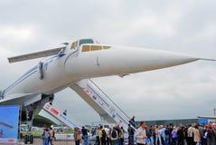 Русский зазвуковой Tupolev Tu-144 самолета Стоковые Фото