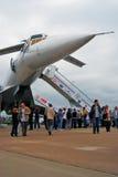 Русский зазвуковой Tupolev Tu-144 самолета Стоковые Фотографии RF