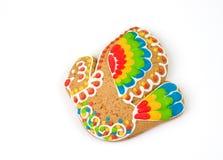 русский замороженности gingerbread печенья Стоковая Фотография