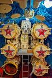 Русский интерьер подводной лодки B-440 в музее Vytegra Стоковая Фотография RF