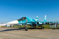 Русский истребитель-бомбардировщик Sukhoi Su-34 Стоковая Фотография