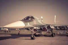 Русский истребитель-бомбардировщик Sukhoi Su-34 Стоковое Изображение RF