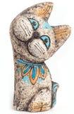 Русский кот глины сувенира Стоковые Изображения