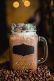Русский кофе с cream необыкновенным представлением Стоковое Изображение