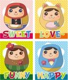 русский куклы карточки Стоковое Фото