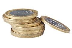 русский кучи биметаллических монеток самомоднейший Стоковая Фотография