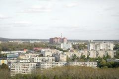 Русский ландшафт домов Стоковые Фотографии RF