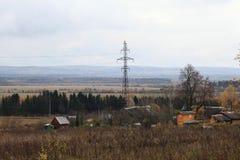Русский маленький город ландшафта autmn Стоковое фото RF