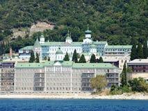 Русский монастырь на побережье Стоковая Фотография RF