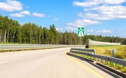 Русский номер M11 шоссе в летнем дне Стоковое фото RF