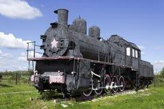 Русский локомотив пара от начала двадцатого века Стоковая Фотография RF