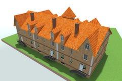 Русский дома 3D Стоковое Изображение