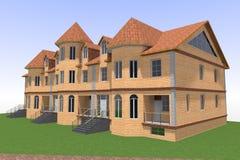 Русский дома 3D Стоковая Фотография RF