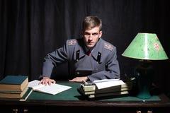 Русский офицер армии Стоковое Изображение