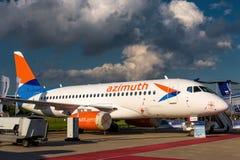 Русский пассажирский самолет Sukhoi Superjet-100 Стоковая Фотография RF