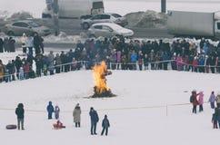 Русский праздник Maslenitsa стоковое фото