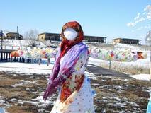 Русский праздник весной стоковые фото