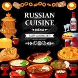Русский плакат доски черноты меню кухни бесплатная иллюстрация