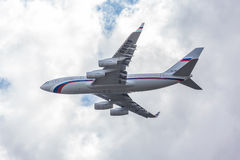 Русский реактивный самолет президента Стоковое Изображение