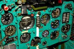 русский самолет-истребителя кокпита стоковые изображения rf