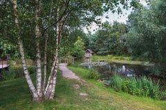Русский сад ландшафта в парке Стоковая Фотография