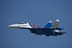 Русский сольное Su-27 Стоковое Изображение RF