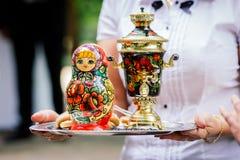 Русский сувенир matrjoshka куклы Стоковое фото RF