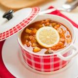 Русский суп - Солянка Стоковые Фотографии RF