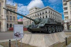 Русский танк на дисплее в Гаване, Кубе стоковое изображение rf