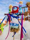 Русский талисман в форме малой куклы Shrovetide Стоковая Фотография RF