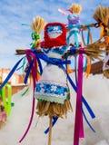 Русский талисман в форме малой куклы Shrovetide Стоковая Фотография